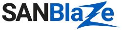 SANBlaze Technology(サンブレイズ・テクノロジー)のロゴ